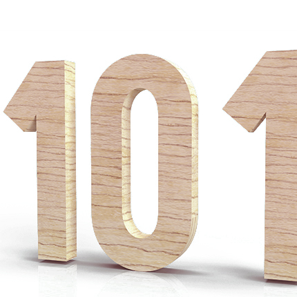 101 number on a white background
