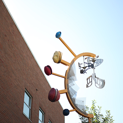A sculpture on the SFCC campus