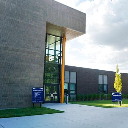 SCC Student Services Building Entrance
