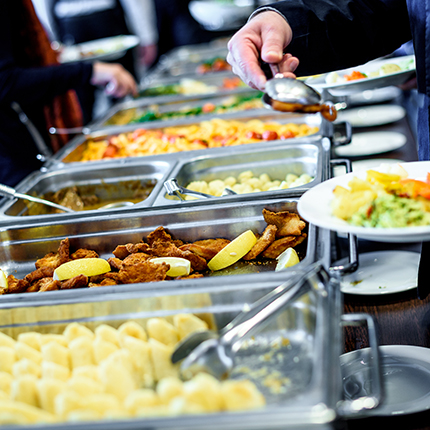 Hot buffet at a cafeteria