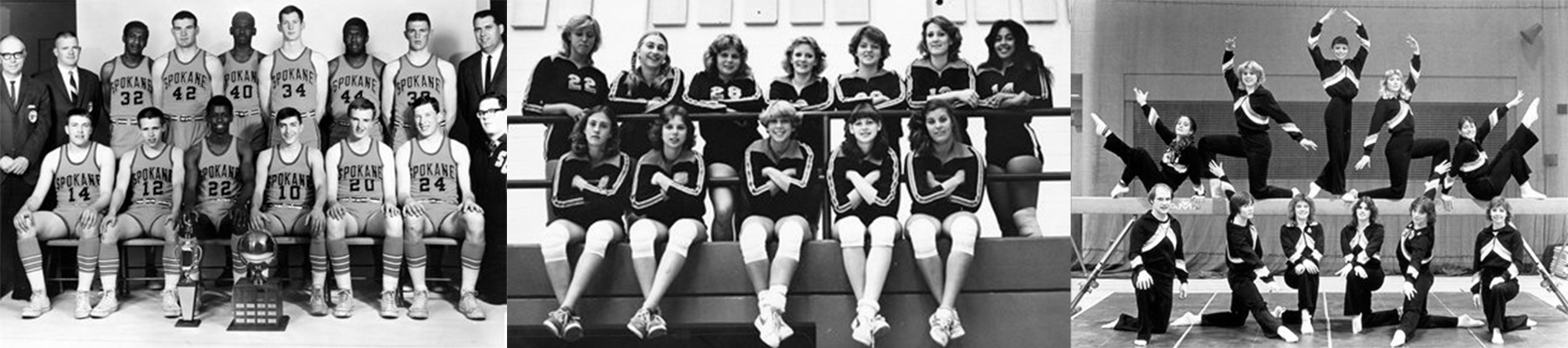 Black and white hall of fame team photos