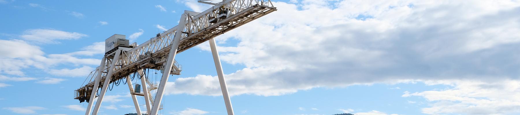 A crane in Colville, WA