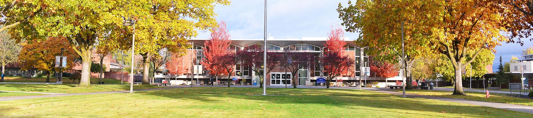 Fall scene on SFCC campus.
