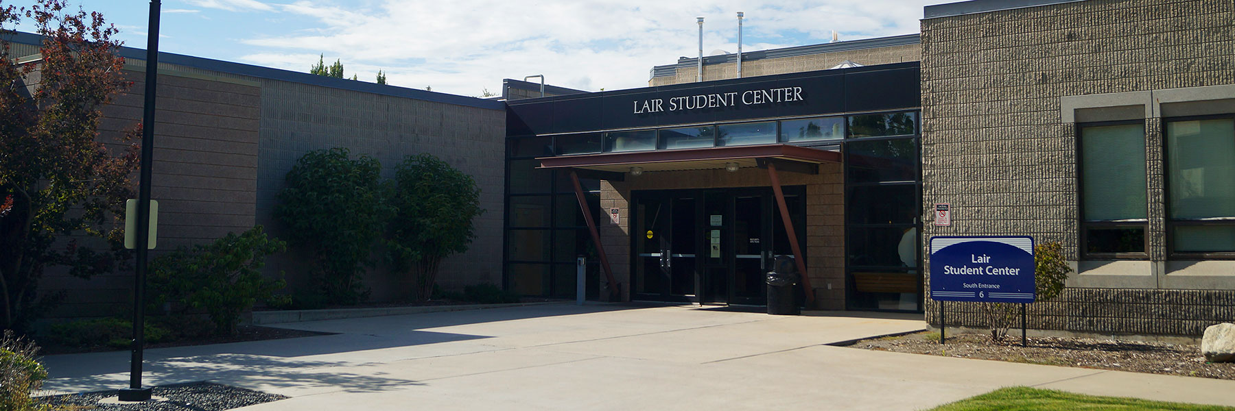Exterior of Lair Student Center