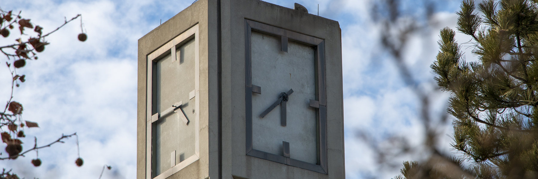 A close up of the SCC Clocktower.