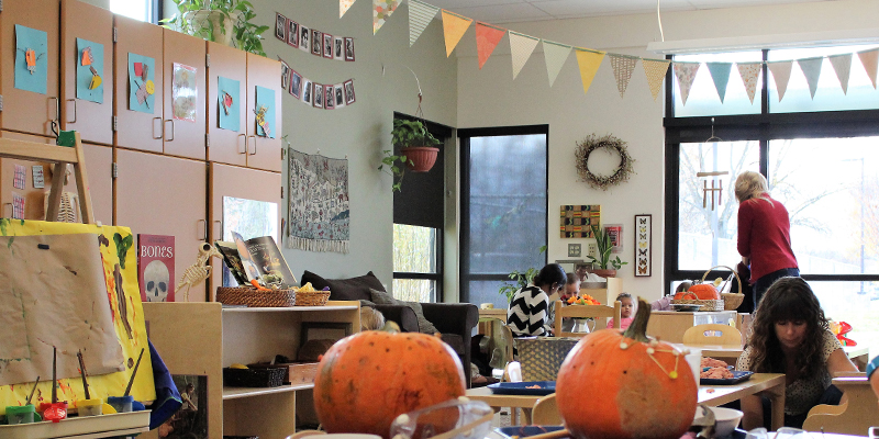 The inside of a headstart classroom