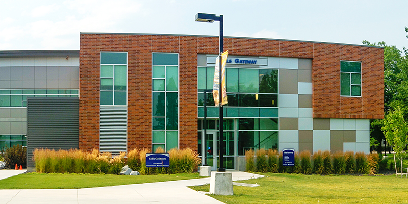 The SCC Learning and Resource Center sign picture in fall 2019