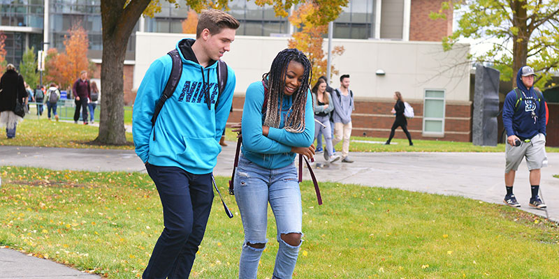 Students walking between classes at SFCC.