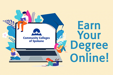 Virtual Campus illustration/animation - Earn your degree onlline