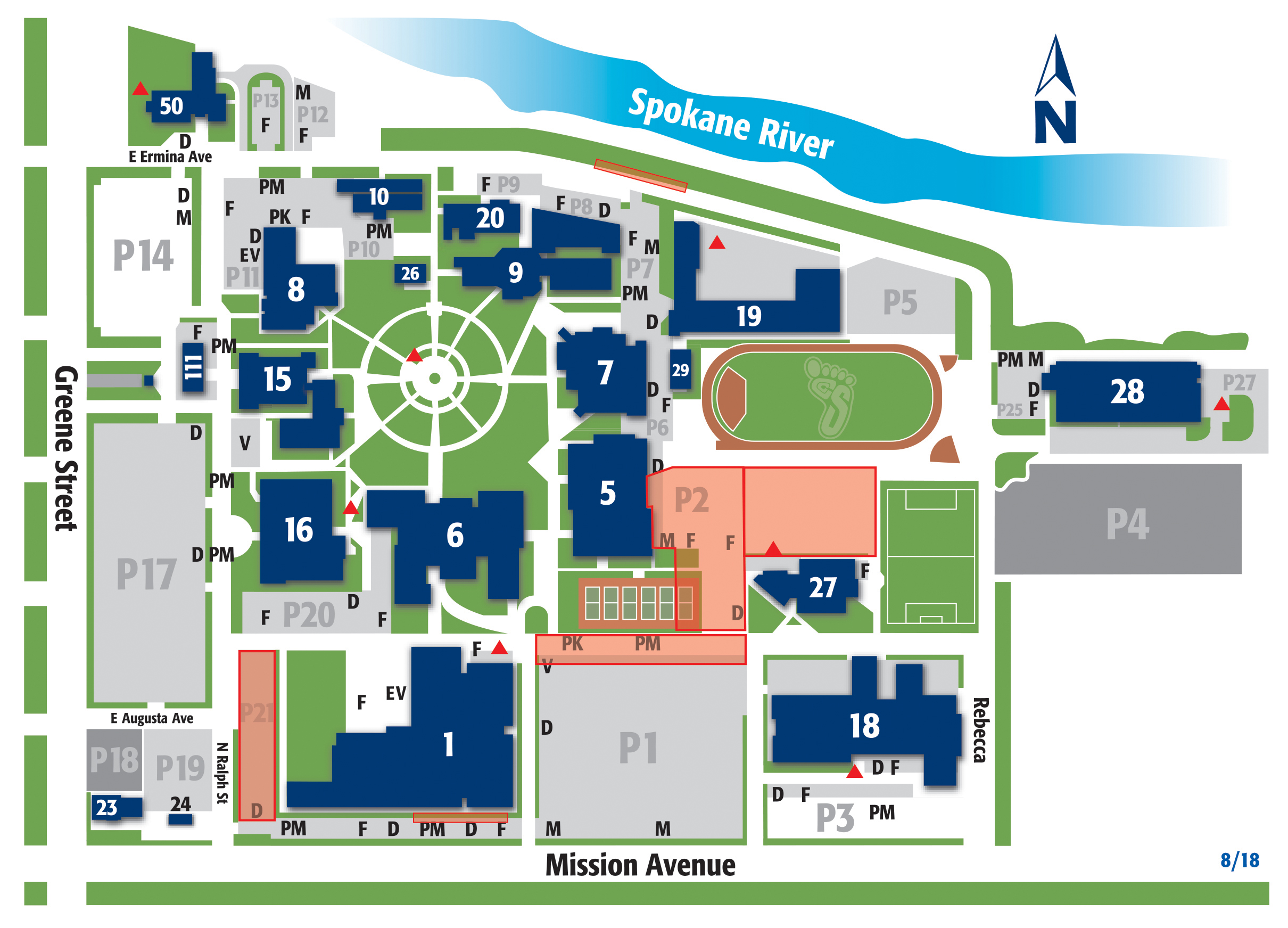 SCC Campus Map - Parking Update
