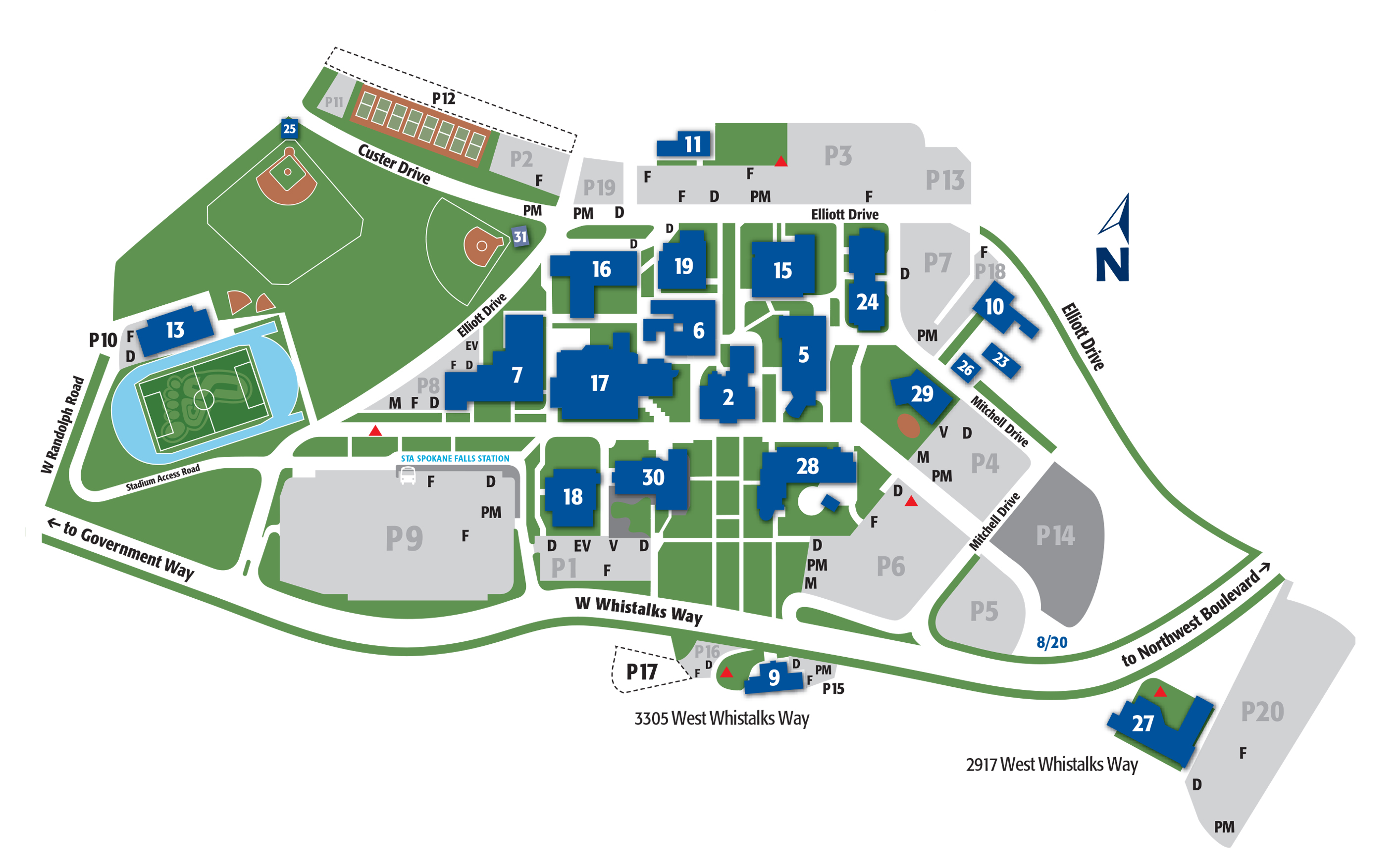 spokane falls community college campus map Maps And Directions