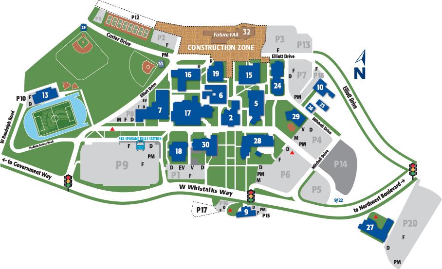 SFCC Campus Map