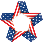 Student veterans advocate - star shape with the american flag pattern