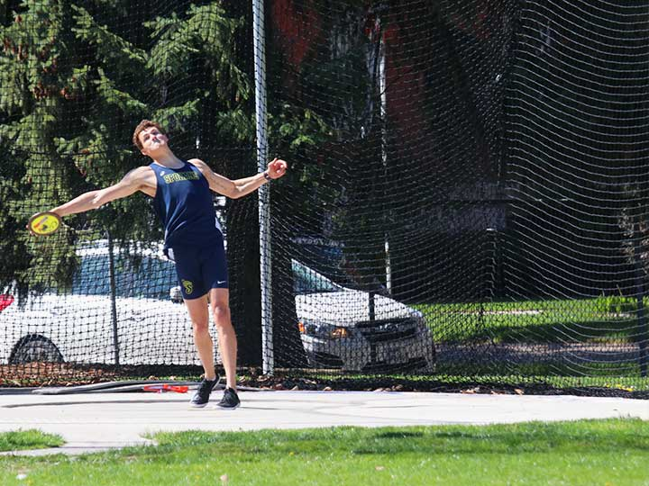 Men's track and field discus