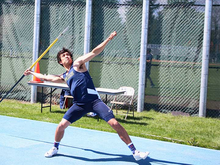 Men's track and field javelin