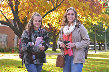 Female Students on the SFCC Campus in the fall