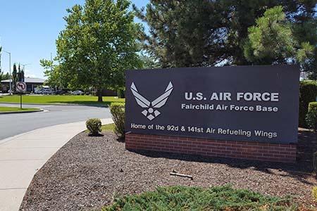 Fairchild Air Force Base Entrance Sign