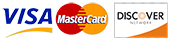 Visa, Master Card, Discovery card payment options