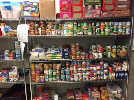 SCC Food Bank stocked shelves